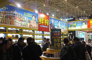 正宗椰树牌鲜榨椰汁2015南京糖酒会企业展位风采展示