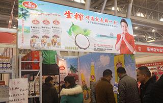 顶呱呱生榨椰子汁在2015合肥秋季糖酒会现场招商