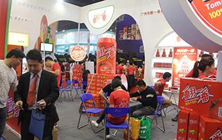 广州翻一番食品贸易有限公司在2015郑州春季糖酒会现场招商