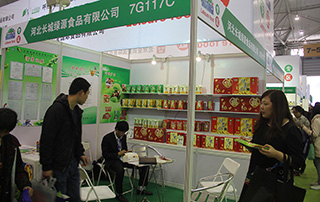 河北长城绿源食品有限公司在2015成都春季糖酒会现场招商
