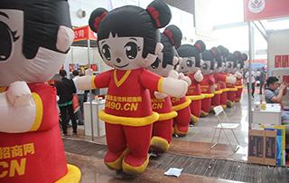 好妞妞宣传队伍在徐州糖酒会上大力宣传推广