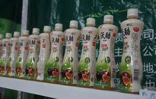 北京金月饮品百香果饮料亮相2015第二届徐州糖酒会