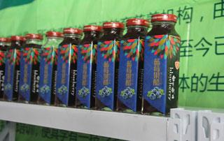 北京金月饮品蓝莓果醋在2015徐州糖酒会上招商