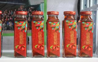 北京金月饮品山楂果醋在2015徐州糖酒会上招商