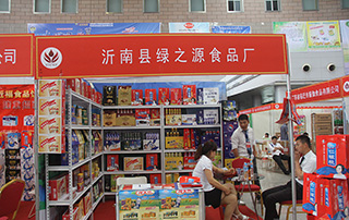 沂南县绿之源食品厂参展2015徐州春季糖酒会