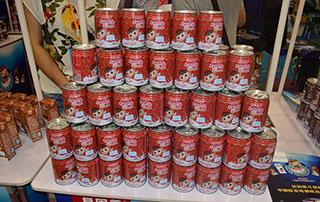 贝因美儿童奶2015长沙糖酒会产品货架