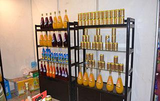 红景天食品2015长沙糖酒会产品货架