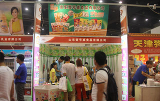 山东壹号桌食品在第十六届郑州糖酒会上招商