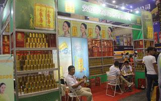 安徽常老实参汤饮料在2015年秋季郑州糖酒会现场招商