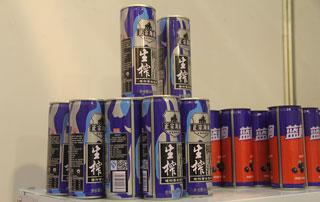 华晨食品生榨椰子汁在2015年第十六届郑州糖酒会上招商