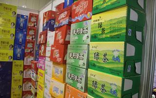 商丘一统山河茶饮料系列产品参展2015年第十六届郑州秋季糖酒会