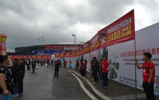好妞妞宣传大旗成为福州海峡国际会展中心最亮眼的风景