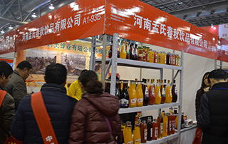 河南孟氏春秋饮品有限公司2016安徽糖酒会招商现场