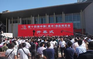 2016第十四届中国(漯河)食品博览会开幕式现场