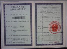 王道一生物科技-组织结构代码证