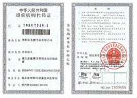 龙潭食品-组织机构代码证