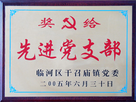 内蒙古金河套乳业有限公司先进党支部