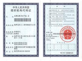 金本上组织机构代码证