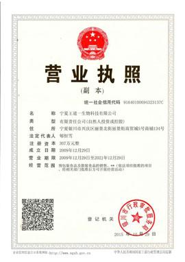 宁夏王道一生物科技有限公司营业执照