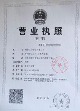 烟台江中食品有限公司营业执照