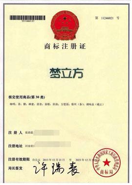 梦立方控股集团(中国)有限公司梦立方商标注册证(30类)