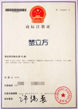 梦立方控股集团(中国)有限公司梦立方商标注册证(32类)