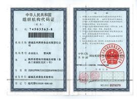 蒲城县凤辉肉食品有限责任公司组织机构代码证