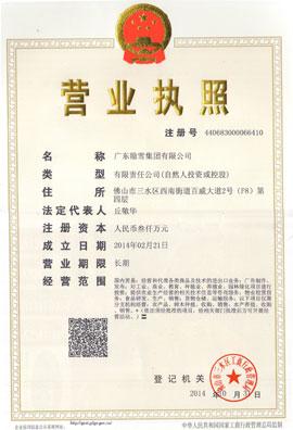 广东隐雪集团有限公司营业执照