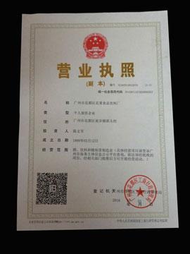 广州市花都区花果食品饮料厂营业执照
