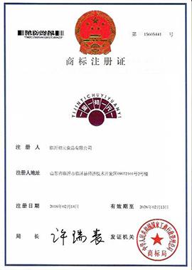 临沂初元食品有限公司金初元商标注册证