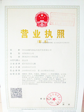 河北金翅鸟食品科技开发有限公司营业执照