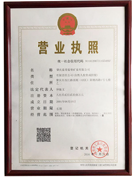 肇庆蓝带蓝堡矿泉有限公司营业执照