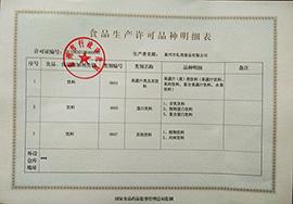 泰州礼尚食品食品生产许可品种明细表