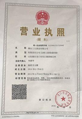 烟台三九乐虎体育营业执照