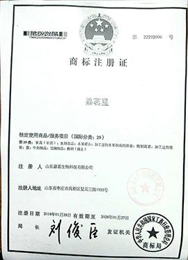 嘉茗星29商标注册证