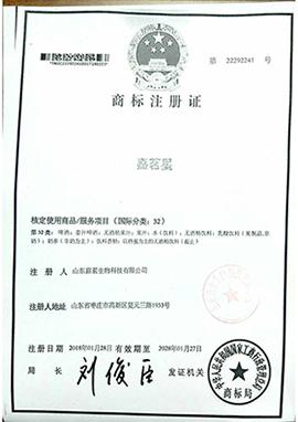 嘉茗星32商标注册证