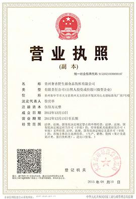 贵州奢香野生源食品饮料营业执照
