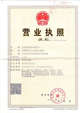 河北妙纯食品有限公司营业执照
