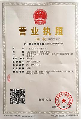 广东中启乐虎体育乐虎营业执照