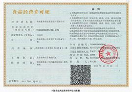 海南素养世佳食品饮料有限公司食品经营许可证