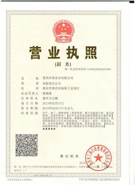 重庆洋派实业有限公司营业执照