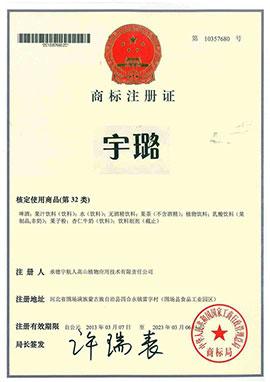河北宇璐乐虎体育科技乐虎商标注册证